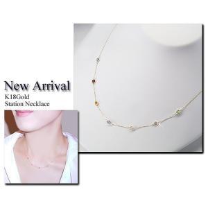K18 ステーション ネックレス 妻 彼女 7色の天然宝石 アクセサリー 3営業日前後の発送予定 venusjewelry 05