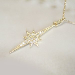 クロス スター 星 天然 ダイヤモンド ネックレス 妻 彼女 K18 3営業日前後の発送予定 venusjewelry 03