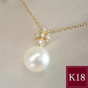 本真珠 ダイヤモンド ネックレス K18 3営業日前後の発送予定|venusjewelry