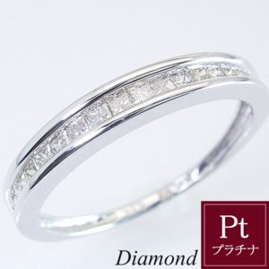 プラチナ プリンセスカット ダイヤモンド エタニティ リング 指輪 3営業日前後の発送予定|venusjewelry