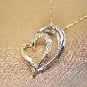 プラチナ 18金 オープンハート ダイヤモンド ネックレス 妻 彼女 3営業日前後の発送予定|venusjewelry|04