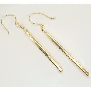 K18ゴールド バーピアス ダイヤモンドピアス 3営業日前後の発送予定|venusjewelry|02