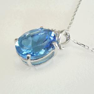 超大粒3カラット ブルートパーズ ダイヤモンド ネックレス K18WG 18金ネックレス 3営業日前後の発送予定|venusjewelry|02