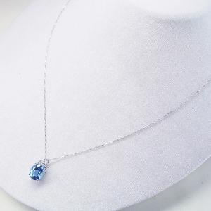 超大粒3カラット ブルートパーズ ダイヤモンド ネックレス 妻 彼女 K18WG 18金ネックレス 3営業日前後の発送予定|venusjewelry|03
