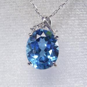 超大粒3カラット ブルートパーズ ダイヤモンド ネックレス 妻 彼女 K18WG 18金ネックレス 3営業日前後の発送予定|venusjewelry|04
