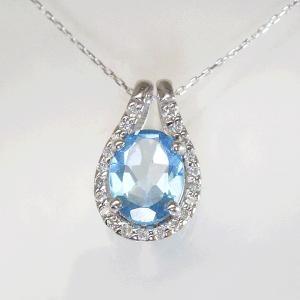 超大粒1.3カラット ブルートパーズ 取り巻きダイヤモンド ネックレス 妻 彼女 K18WG 18金ネックレス 3営業日前後の発送予定|venusjewelry|04