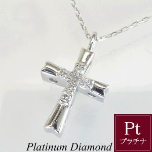 プラチナ ダイヤモンド クロス ネックレス ダイヤモンドネックレス 3営業日前後の発送予定|venusjewelry