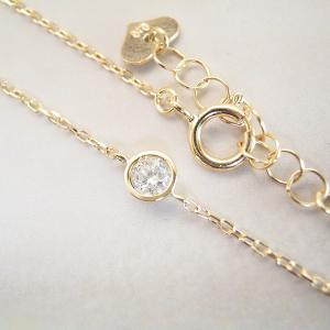 ダイヤモンド ブレスレット K18  一粒 3営業日前後の発送予定|venusjewelry|02