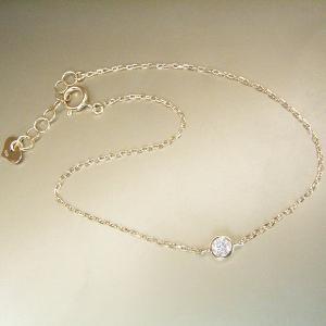 ダイヤモンド ブレスレット K18  一粒 3営業日前後の発送予定|venusjewelry|03