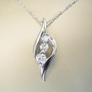 プラチナ ダイヤモンド ネックレス スリーストーン ネックレス 妻 彼女 3営業日前後の発送予定|venusjewelry|05
