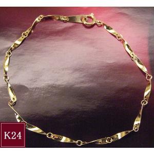 純金 K24 デザイン メンズ  ブレスレット 男性用 アクセサリー 3営業日前後の発送予定|venusjewelry