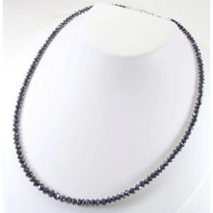ダイヤモンドネックレス K18WG 計50カラット ブラックダイヤ 3営業日前後の発送予定|venusjewelry