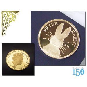 ピーターラビット 純金貨 ピーターラビットの作者 ビアトリクス・ポター 生誕150周年記念 純金コイン K24 世界500枚限定 5営業日前後の発送予定|venusjewelry|02