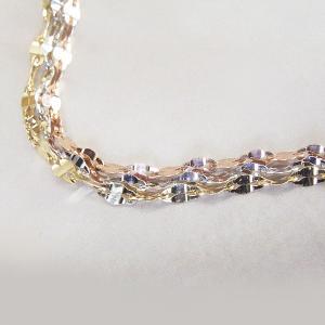 3色・3連トリニティ ブレスレット K18WG/K18PG/K18 プレゼント ジュエリー 2月22日前後の発送予定|venusjewelry|02