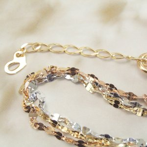 3色・3連トリニティ ブレスレット K18WG/K18PG/K18 プレゼント ジュエリー 2月22日前後の発送予定|venusjewelry|04
