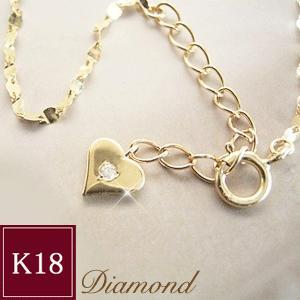 ダイヤモンドブレスレット K18 ハート 3営業日前後の発送予定|venusjewelry