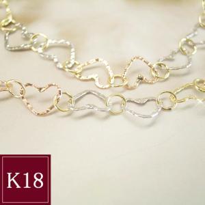 Love ハート ブレスレット 3色の18金 3営業日前後の発送予定|venusjewelry