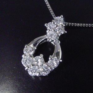 プラチナ ダイヤモンド ネックレス 計0.5カラット ネックレス 妻 彼女 10石ダイヤ ペンダント 3営業日前後の発送予定 venusjewelry 03
