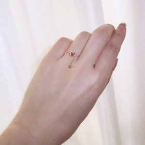 ダイヤモンド リング K18PG ハート 3営業日前後の発送予定 venusjewelry 03