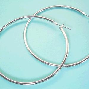 プラチナ フープ 揺れる 50mm  3営業日前後の発送予定|venusjewelry
