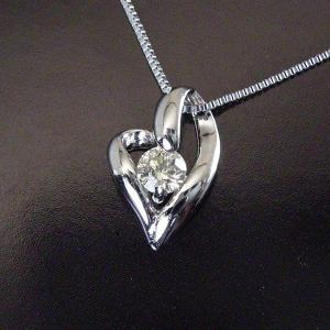 プラチナ ダイヤモンド ネックレス 一粒 ダイヤモンドネックレス ハート オープンハート 3営業日前後の発送予定|venusjewelry|02