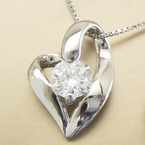 プラチナ ダイヤモンド ネックレス 妻 彼女 一粒 ダイヤモンドネックレス ハート 0.3カラット 鑑別書付 3営業日前後の発送予定|venusjewelry|05