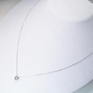 プラチナ ダイヤモンド ネックレス 一粒 0.3カラット ダイヤモンドネックレス ペンダント 鑑別書付 3営業日前後の発送予定 venusjewelry 04