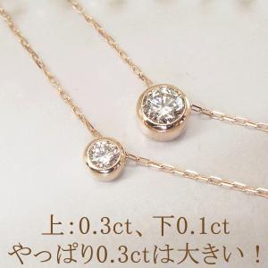 プラチナ ダイヤモンド ネックレス 一粒 0.3カラット ダイヤモンドネックレス ペンダント 鑑別書付 3営業日前後の発送予定 venusjewelry 05