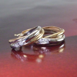 ダイヤモンド トリニティ ピアス プラチナ900 K18ピンクゴールド K18ゴールド 3営業日前後の発送予定|venusjewelry|02