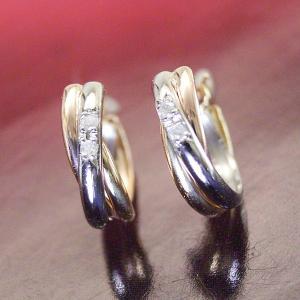 ダイヤモンド トリニティ ピアス プラチナ900 K18ピンクゴールド K18ゴールド 3営業日前後の発送予定|venusjewelry|03