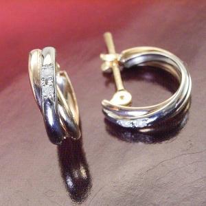 ダイヤモンド トリニティ ピアス プラチナ900 K18ピンクゴールド K18ゴールド 3営業日前後の発送予定|venusjewelry|04