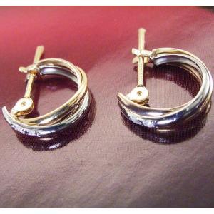 ダイヤモンド トリニティ ピアス プラチナ900 K18ピンクゴールド K18ゴールド 3営業日前後の発送予定|venusjewelry|05