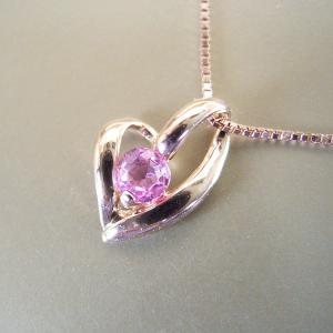 サファイア K18PG ピンクサファイア ハート ネックレス 妻 彼女 3営業日前後の発送予定|venusjewelry|04