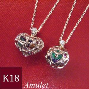 K18PG アミュレット ダイヤモンドネックレス クリスマスプレゼント ジュエリー|venusjewelry