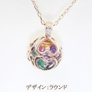 K18PG アミュレット ダイヤモンドネックレス クリスマスプレゼント ジュエリー|venusjewelry|02