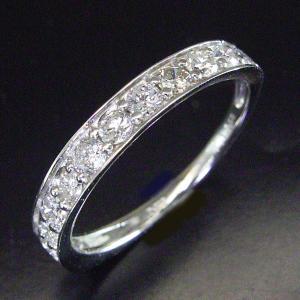 0.5カラット プラチナ ダイヤモンド リング エタニティ ダイヤモンドリング 指輪 3営業日前後の発送予定|venusjewelry|02