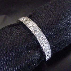 0.5カラット プラチナ ダイヤモンド リング エタニティ ダイヤモンドリング 指輪 3営業日前後の発送予定|venusjewelry|03