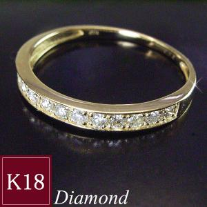 18金 天然 ダイヤモンド リング エタニティ ダイヤモンドリング 指輪 3営業日前後の発送予定|venusjewelry
