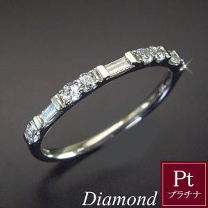 プラチナ950 ダイヤモンド リング バケットカット ラウンドブリリアントカット 10月18日前後の発送予定 venusjewelry