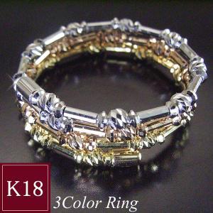 K18WG K18PG K18 3連リング 指輪 フリーサイズ 3営業日前後の発送予定|venusjewelry