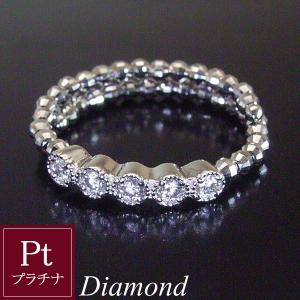 サイズ自由自在 天然 ダイヤモンド プラチナ リング pt 指輪 フリーサイズ エタニティ リング 3営業日前後の発送予定|venusjewelry