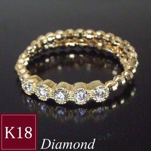 サイズ自由自在 天然 ダイヤモンド 18金 リング k18 指輪 フリーサイズ エタニティ リング 3営業日前後の発送予定|venusjewelry