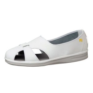 メンズ 通気性ナースシューズ エレパス PS-01S 静電 ホワイト 大きいサイズ 医療 衛生 靴 疲れにくい verdexcel-medical