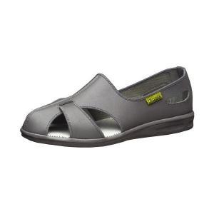 通気性ナースシューズ メンズ レディース エレパスクールN 静電 グレイ 蒸れない 通気構造 医療 衛生 靴 疲れにくい|verdexcel-medical