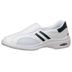 通気性ナースシューズ メディカルエレパス CSS-16Si静電 ネイビー 蒸れない 医療 衛生 靴 疲れにくい|verdexcel-medical
