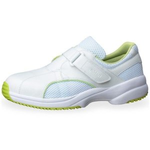 メンズ レディース 通気性ナースケアセフティ CSS-01N グリーン 耐滑 抗菌加工 医療 衛生 靴|verdexcel-medical