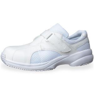 メンズ レディース 通気性ナースケアセフティ CSS-01NCAP ホワイト 先芯入り 耐滑 抗菌加工 医療 衛生 靴|verdexcel-medical