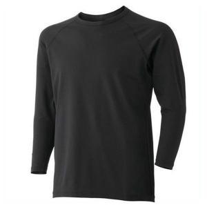 ミドリ安全 男女共用 長袖Tシャツ ウォームインナー FTW11BK上 ブラック|verdexcel-medical