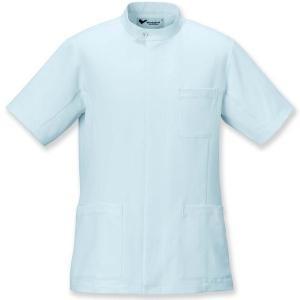 ミドリ安全 メディカルジャケット VEMG 13 男上衣 サックス ケーシー 白衣 メンズ 医療 衛生 作業着・服|verdexcel-medical