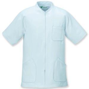 ミドリ安全 メディカルジャケット VEMG 23 男上衣 サックス ケーシー 白衣 メンズ 医療 衛生 作業着・服|verdexcel-medical